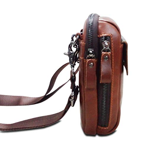 Multi purpose Belt Size Rxf color Brown Casual S Brown Bag Messenger Waist Men's Leather gWWcYXCq
