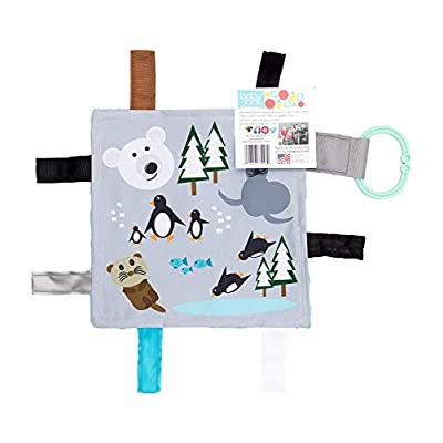 Sensory Crinkle Toy Tag Square Learning Lovey by Baby Jack (Polar) : Baby