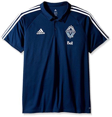 adidas MLS Vancouver Whitecaps Men's Authentic Sideline Coaches Polo, Large, Black (Adidas Polo Shirt Sideline)