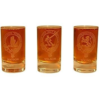 Innes Irvine Johnston Keith Glencairn Clan Crest Crystal Dram Tot Glass
