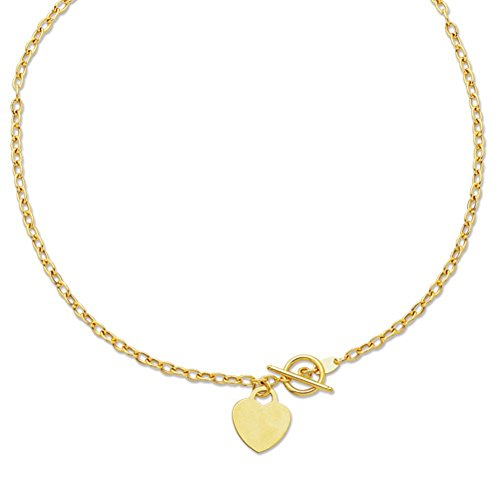 Oval Rolo Link Necklace - 14kt 17