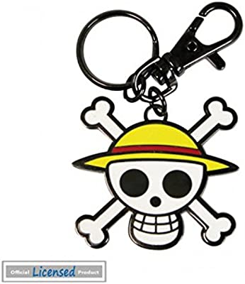 1art1® One Piece - Logo De La Bandera De Luffy Llavero (5 x ...