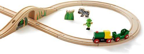 "Brio - 33004 - Circuits de train en bois - Coffret en 8 ""Safari"""
