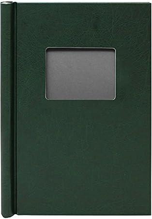 Green Leather Effect Window Springback Binder A4 Portrait