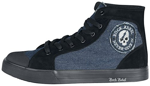 Rock Rebel by EMP Walk The Line Sneakers Blue-Black Blue-black with mastercard cheap online buy cheap brand new unisex cheap price from china 4kvi1Q2z6