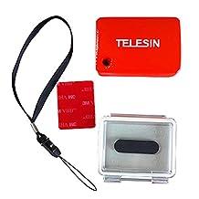 TELESIN Floaty Sponge + Waterproof Backdoor Case Cover+3m Adhesive Stick for Gopro Hero3
