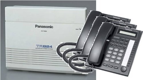 Panasonic KX-TA824-T7730PK3 (KX-TA824, 3 KX-T7730) Packages Black by Panasonic