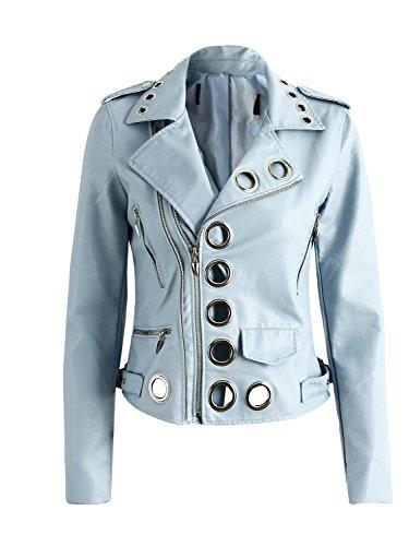 Ladies Leather Bike Jacket - 3