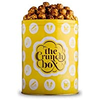 The Crunch Box Warm Caramel Crunch Popcorn Tin - 410 Gms