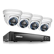 ANNKE 8CH 1080P HD-TVI H.264 Realtime DVR Security Camera System 1TB HDD included With (4)HD 1080P CCTV Dome Cameras,Weatherproof IP66,Night Vision, Remote Access and More