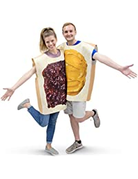 Peanut Butter & Jelly Adult Couple's Halloween Costume PBJ Party & Cosplay Suits