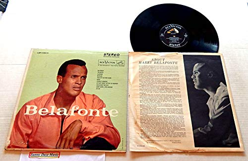 Harry Belafonte Belafonte - RCA Victor Records 1956 - Used Vinyl LP Record - 19?? Reissue Pressing LSP-1150(e) - Suzanne - Matilda - Unchained Melody - Sylvie - Noah
