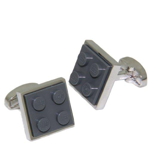 Grey Lego Brick Cufflinks | Cuffs & Co
