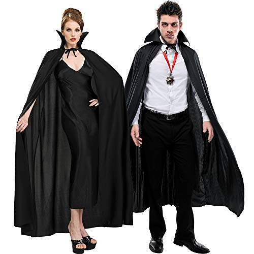 AMSCAN Full Length Black Cape Halloween Costume Accessories for Adults, One Size -