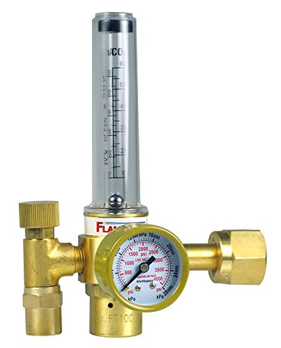 FlameTech 100-FL-CD-60-320 Flowmeter Carbon Dioxide Regulator, Box Packaging, Tested in The USA