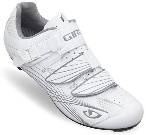 Giro Frauen Solara Fahrradschuh Patent Wht / Silber