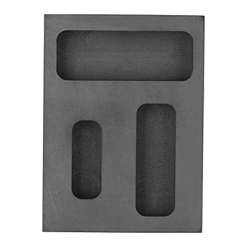Graphite Melting Mold, Graphite Crucible Ingot Torch Melting Casting Refining Scrap Bar Combo Mold for Gold Silver Aluminum Melting Casting Refining Metal Jewelry