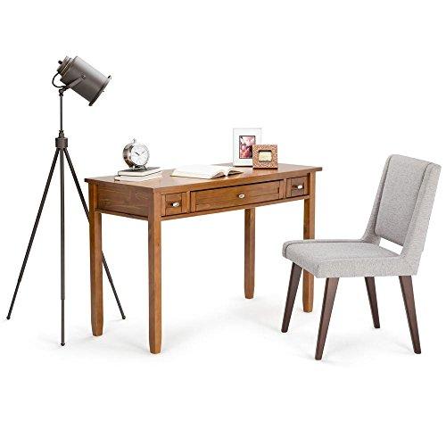 Simpli Home Warm Shaker Solid Wood Desk, Honey Brown