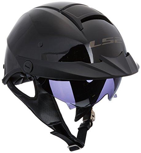 590 Bluetooth - LS2 Helmets Rebellion Unisex-Adult Half Helmet Motorcycle Helmet (Gloss Black, Medium)