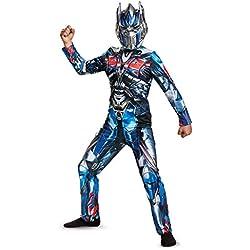 Disguise Optimus Prime Movie Classic Costume, Blue, Medium (7-8)