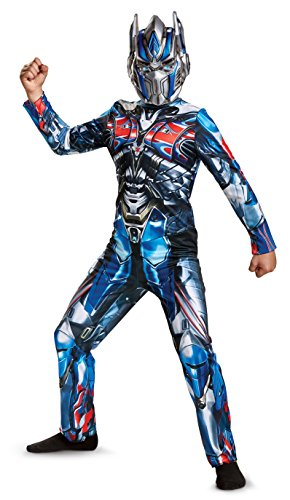 Boy Transformer Costume (Disguise Optimus Prime Movie Classic Costume, Blue, Medium (7-8))