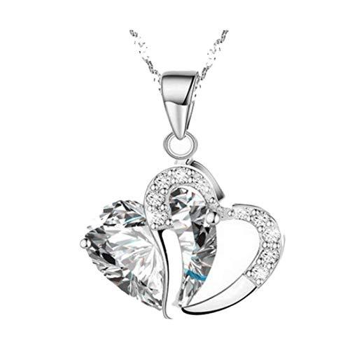Gbell Fashion - Collar con Colgante de corazón para Mujer, con ...