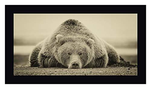 "Deep Sleep (ASH) by PHBurchett - 24"" x 43"" Black Framed Giclee Canvas Art Print - Ready to Hang"