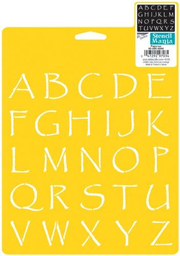 Delta Creative Stencil Mania Stencils, 7 by 10-Inch, SM97-0870 Papyrus Alphabet -