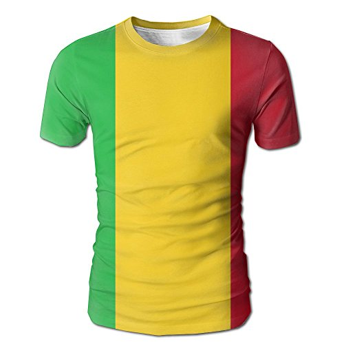Jie Shikang Flag Of Senegal Men's Short Sleeve T-Shirt Full Print Cute Tees - In Girls Ukraine Singapore