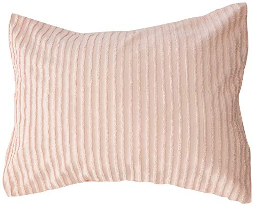 Beatrice Home Fashions Channel Chenille Pillow Sham, Standard, Rose ()