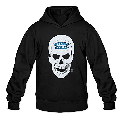 HEDONE Men's Legends Stone Cold Steve Austin 3 16 And Skull Hoodie Black L