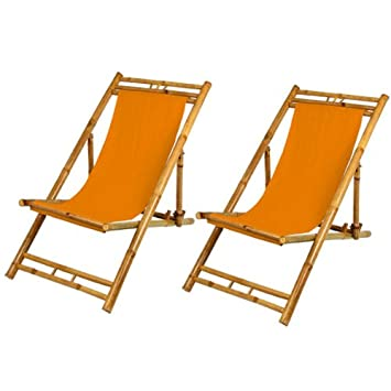 Amazon De Liegestuhl Sonnenliege Gartenliege Strandliege 2er Set