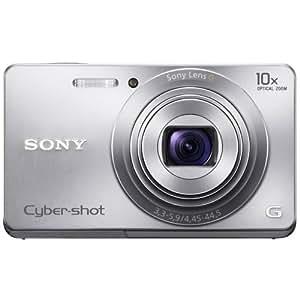 """Sony DSC-W690 - Cámara compacta de 16.1 Mp (pantalla de 3"""", zoom óptico 10x, estabilizador de imagen ) color plateado"""