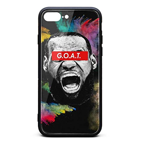 Cool Phone case for iPhone 7 Plus/8 Plus Sports Fan Fashion Best Shock Absorption TPC Tempered Glass hot Cute Cover Case ()