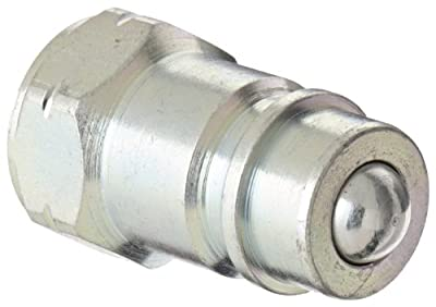 "Dixon Valve AG4F4 Steel Agricultural Push-Pull Ball Valve Hydraulic Fitting, Nipple, 1/2"" Coupling x 1/2"" - 14 NPTF Female Thread from Dixon Valve & Coupling"