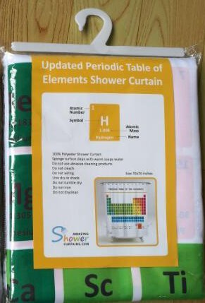 Amazing Shower Curtains - Updated 2017 Periodic Table of Elements ...