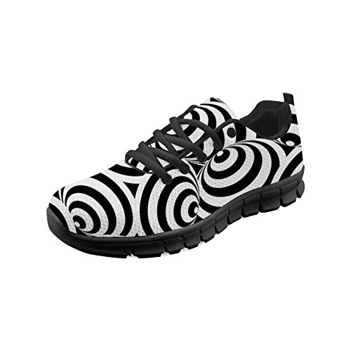 Girl amp; Women Black White1 Running Shoes Casual Sneakers doginthehole Lightweight Trail Mesh qEC4vf5xw