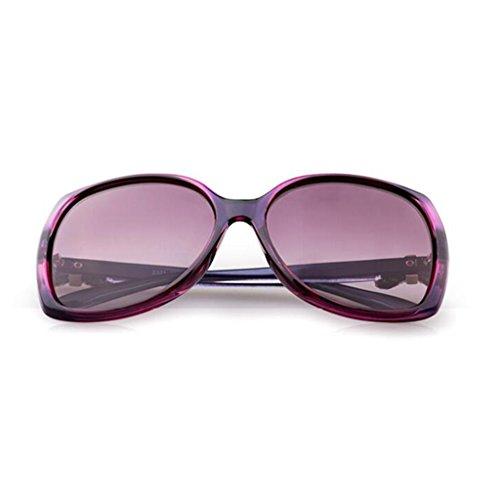 personnalité rétro Lunettes yeux visage de B yeux soleil LE rond Couleur lunettes de des soleil D polarisées UV marée protection KAI lunettes de HAq8x57