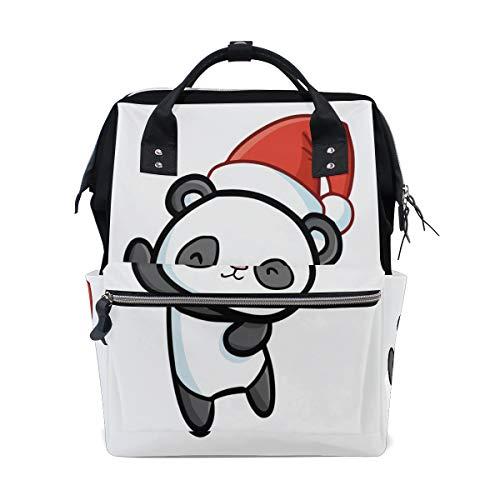 Dancing Funny Giant Panda Large Capacity Diaper Bags Mummy Backpack Multi Functions Nappy Nursing Bag Tote Handbag for Children Baby Care Travel Daily Women -