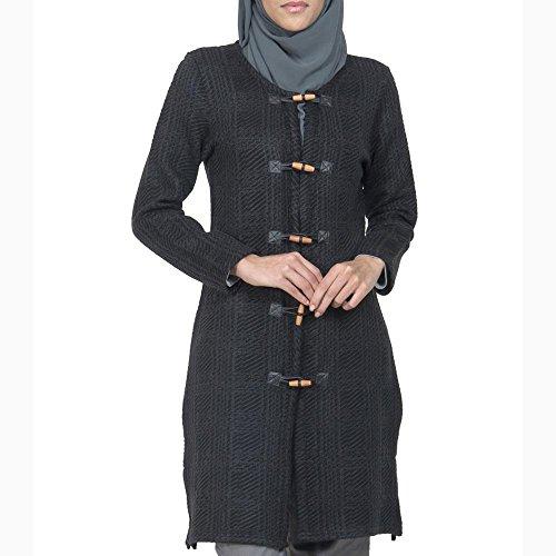Black Boucle Wool Sweater Jacket