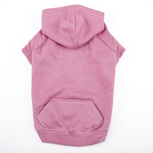 Casual Canine Basic Hoodie for Dogs, 12'' Small, Pink by Casual Canine