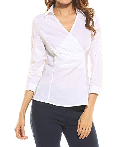 Zeagoo Womens Sleeve Blouse Stretch