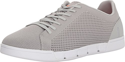 SWIMS Men's Breeze Tennis Knit Sneakers Light Gray/White 9.5 M -