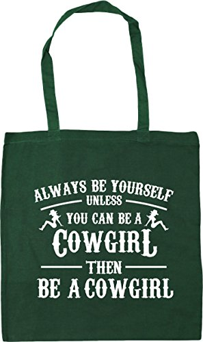 Gym be unless Beach HippoWarehouse yourself then cowgirl x38cm you Green Bottle litres be Always can be cowgirl a 10 a Tote Bag 42cm Shopping tqqrZvAan