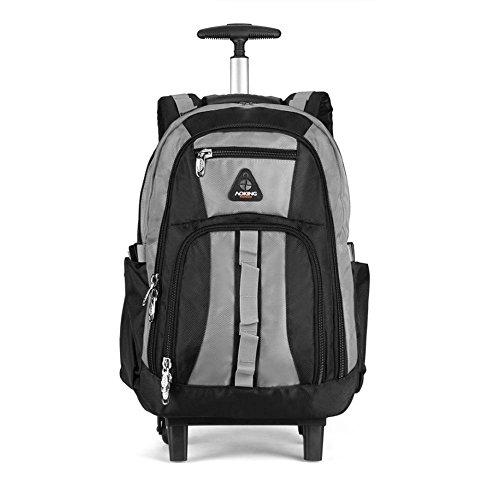 Comfortablely spalle aste borsa multifunzione ultra-leggero valigia portatile zaino approvazione Ryanair/Easyjet/British Airways/Virgin Atlantic con 2Silent Wheel b grey