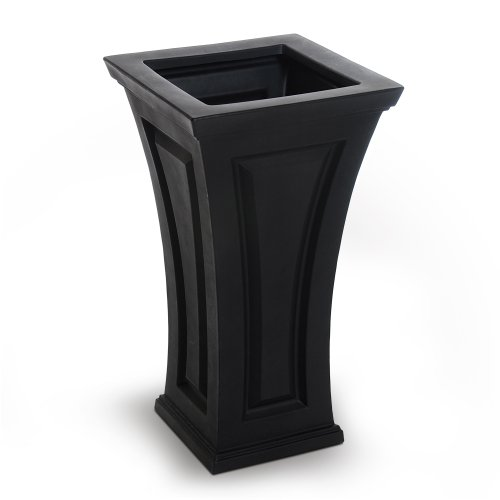 Mayne Inc Cambridge Tall Planter, Black