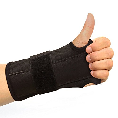 Carpal Tunnel Solutions Daytime Wrist Brace - RELIEF For Carpal Tunnel, RSI, Cubital Tunnel, Tendonitis, Arthritis, Wrist Sprains. Support Recovery & Feel Better NOW. (1 Brace Fits Both Hands) Gloves Carpal Tunnel Wrist Brace