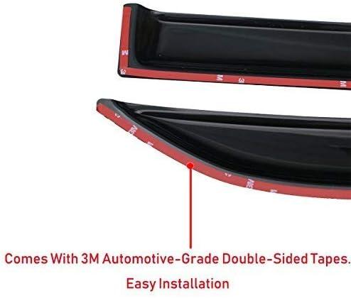 Mrp Set di 4 deflettori dAria compatibili con BMW Serie 1 F20 2011 2012 2013 2014 2015 2016 2017 2018 2019 Visiere Laterali in Vetro Acrilico PMMA F20 5 Porte Hatchback