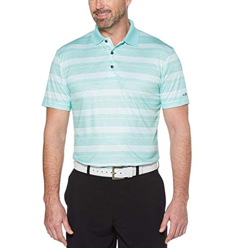 d6f7fabde Grand Slam Men's On Course Striped Golf Polo (Wasabi, Large)