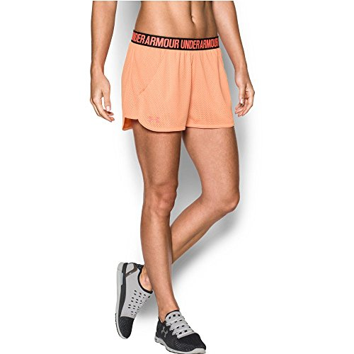 Under Armour Women's Play Up short 2.0 - Mesh, Playful Peach (164)/London Orange, X-Small